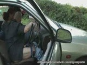 Dogging public sex in car park  Amateur UK 
