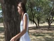 Sexy Latina exhibitionist gets naked in the park - Latin-Hot