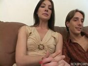 Porn star couple interview. Husband blasts wife's face with a huge load