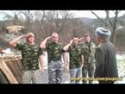 military gangbang bukkake