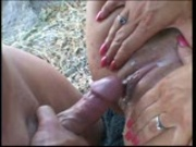 Phylisha takes jizz on her clit