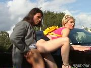 Flexible hitchhiker gets banged