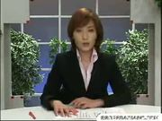 Jap news reporter bukkake