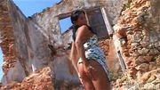 Suzana naked by the Ruins