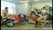 Motorized showroom for cycles and genitals (clip)