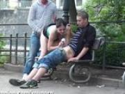 18 y.o. CUTIE in a STREET ACTION threesome Part 1