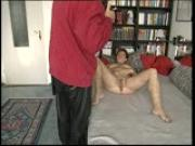 Hefty fraulein shows and blows