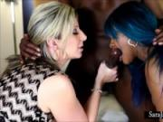 Sara Jay and Gemini Fucking a Big Black Cock