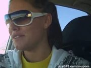 she swallow in car part-1