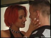 Redhead gal takes it in the ass - DBM Video