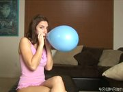 Is Maddie blowing up a condom or a balloon ?