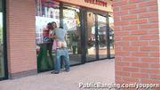PUBLIC SEX - public couple by a store window