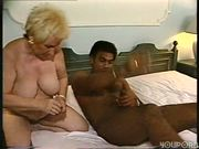 older woman woman takes on young black man