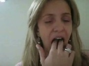 Brasileira gravando video para homen casado.!