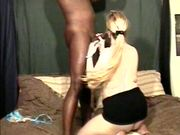 Blond Sucking Big Black Dick