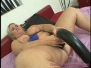 Chubby fucking huge Dildo