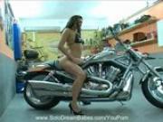Beautiful Babe On A Bike