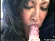 Rita sucks MIDGET Joey's cock