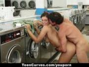 TeenCurves - Bootylicious Teen Fucked Hard in Laundromat