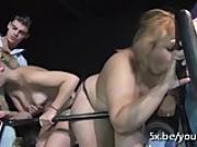 Lana and her bbw friend fucked in a foursome