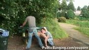 PUBLIC SEX threesome in a park PART 2