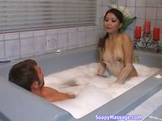 Lana Croft Gives Soapy Massage Pt 2/3