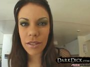 Gia Paloma Stuffed w Black Cock Facialed