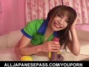 Ayane Sakurada inserting toys in her twat