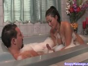 Busty asian gives a Soapy Massage p. 2/3