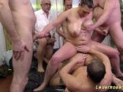 wild slippery gangbang fuck orgy