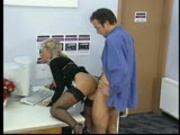 Older lady takes a cock from behind