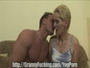 Granny is face fucked hard