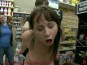 Brunette fucked in a hardware store