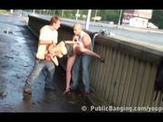 Public threesome on the street Prt 3 of 4