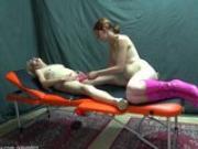 Granny teaches young girl