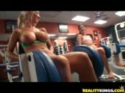 Molly Cavalli Alyssa get down at the gym