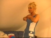 Mature blonde in the dressing room