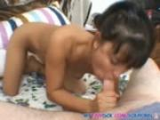 Cute teen gives one hell of a blowjob
