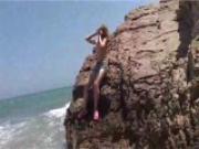 Lovely Lea on the beach...naked!