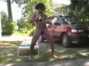 Pregnant girl plays with bottle and pees - Inferno Productions
