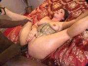 Man with dreads has a huge cock in her pussy