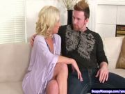 Blonde gives erotic soapy massage p.1