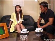 Cute, bashful Asian gets slowly turned on