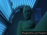MASTURBATING AT THE TANNING SALON AMATEUR WIFE