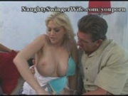 Huge Breasted Blondie's Pussy Stretched
