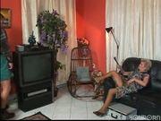 Granny services the TV service man pt 1