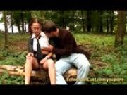 french schoolgirl fucked in nature