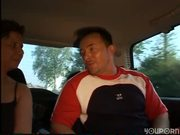 Backseat sex and blowjob - DBM Video