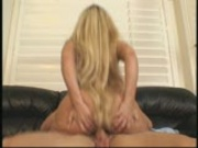 Blonde strips in audition for a job