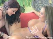 British Bombshell Sophie Dee Fucks Richelle Ryan with Her Dildos!